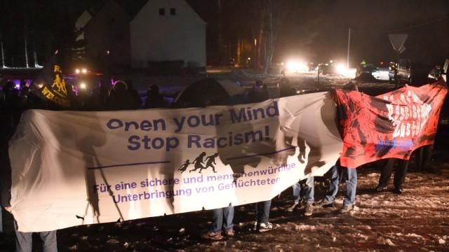 Solidaritätskundgebung für Flüchtlinge in Clausnitz