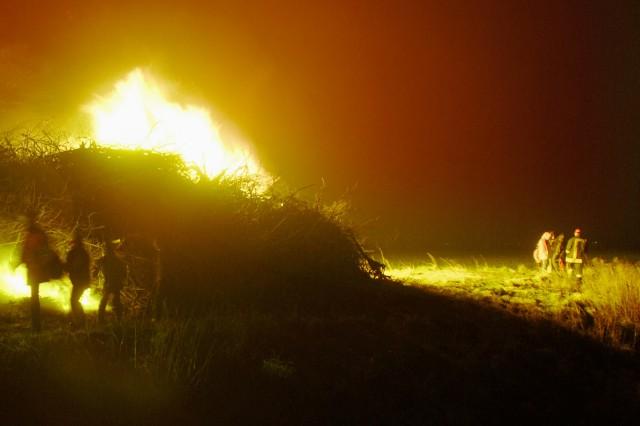 'Biikebrennen' in Nordfriesland