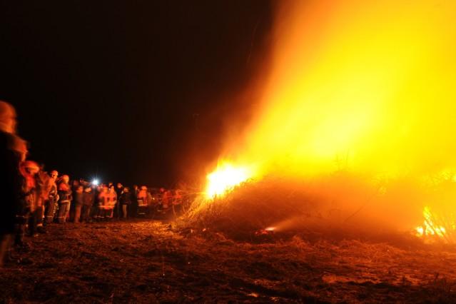 Biikefeuer an der Nordseeküste