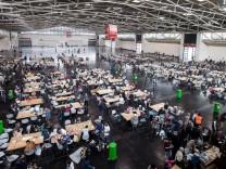 Flüchtlingsunterkuft Messe Riem