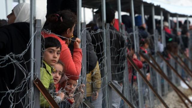 Flüchtlinge, griechisch-mazedonische Grenze