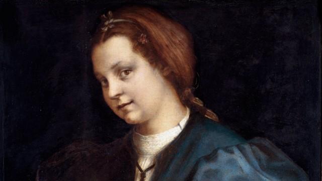 Portrait d inconnue Dame au Petrarchino la femme tient dans ses mains un exemplaire du Canzoniere