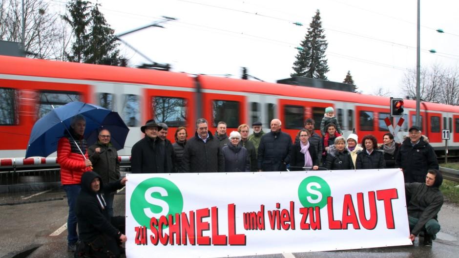 Demo gegen S-Bahnlärm; Demo gegen den S-Bahnlärm