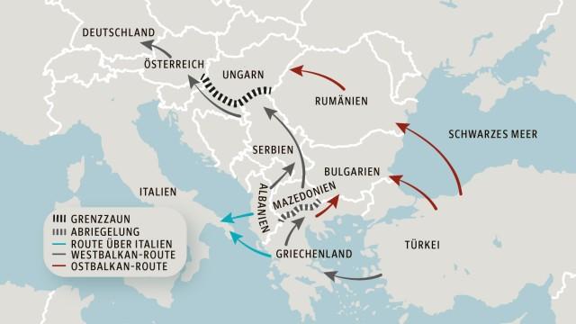 Karte Balkanroute
