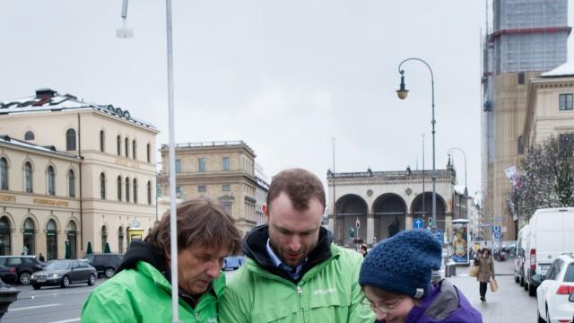 Odeonsplatz Stickoxid Messung von Greenpeace