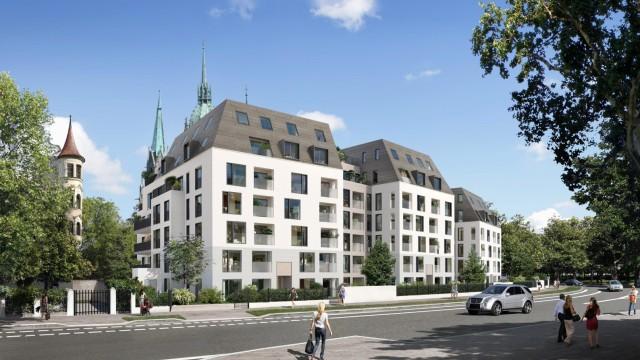 Bavaria Palais an der Theresienwiese, Simulation des Bauträgers Concept Bau