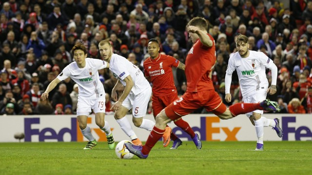 Liverpool v FC Augsburg - UEFA Europa League Round of 32 Second Leg