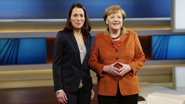 Angela Merkel bei Anne Will 2016 02 28 Berlin Deutschland Bundeskanzlerin Angela Merkel CDU be