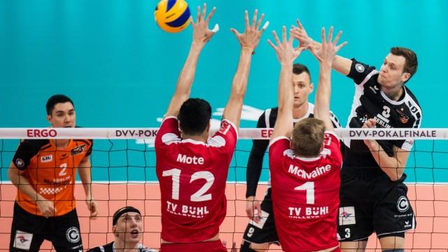 Mannheim Deutschland 28 02 2016 Volleyball DVV Pokalfinale 2016 Finale der Männer Maenner T