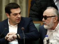 Feb 10 2016 Athens Greece Greek PM Alexis Tsipras L with Interior and Administrative Reform