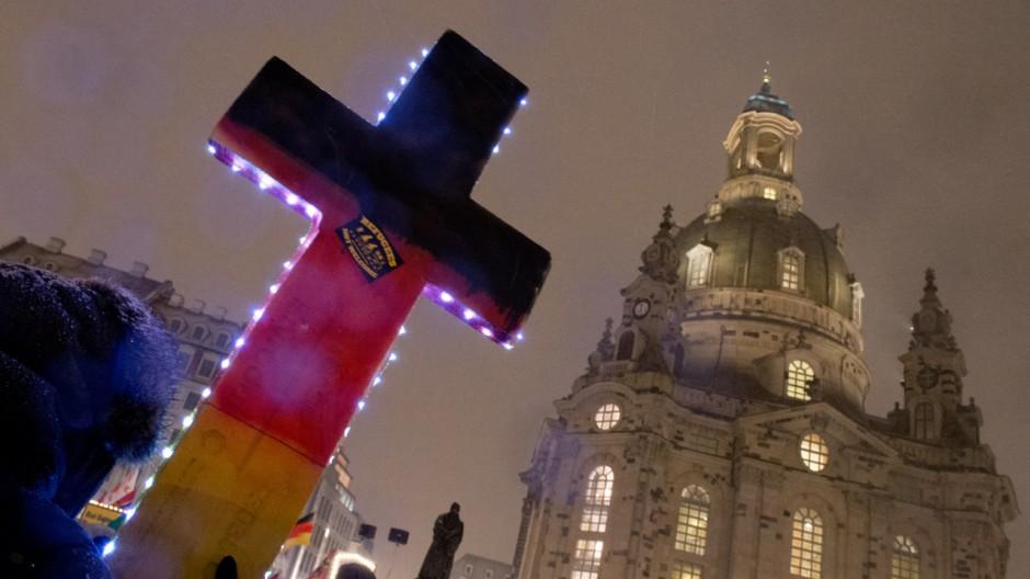 Pegida-Kundgebung in Dresden