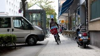 Radweg in der Münchner Augustenstraße, 2011