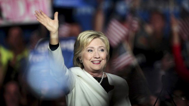 Democratic U.S. presidential candidate Hillary Clinton speaks about the results of the Super Tuesday primaries at a campaign rally in Miami