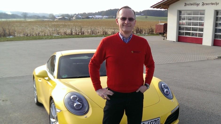 Erwin Pfeiffer vom Porsche Club Isartal München und der neue 911