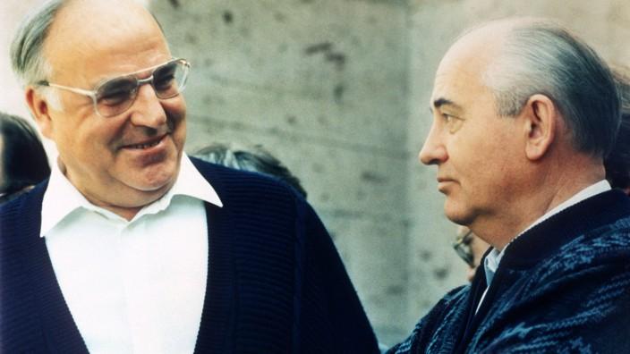 Helmut Kohl und Michail Gorbatschow