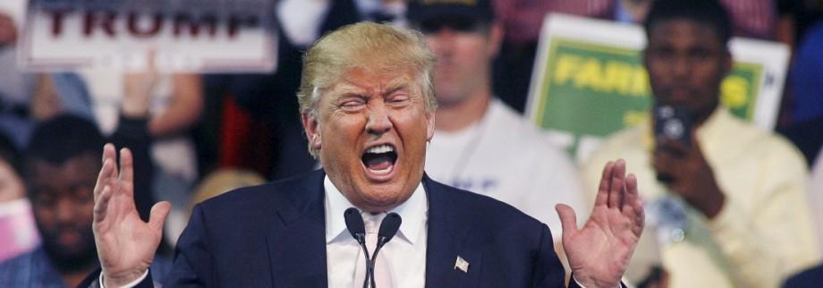 Republican U.S. presidential candidate Donald Trump speaks at a campaign rally at Valdosta State University in Valdosta, Georgia