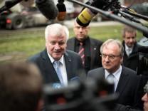 Landtagswahlkampf CDU Sachsen-Anhalt mit Seehofer