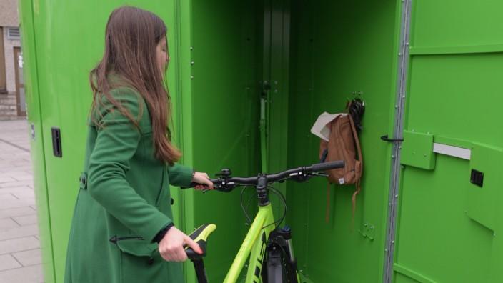Eröffnung einer abschließbaren Fahrradabstellbox