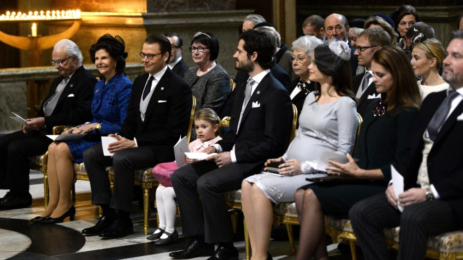 Members of the Swedish Royal family attend thanksgiving service f