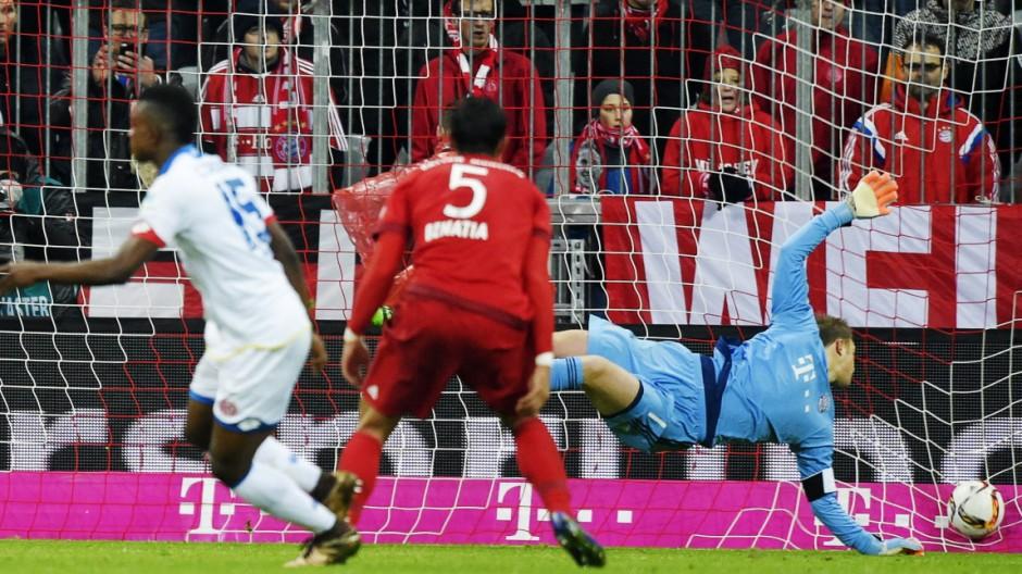 02 03 2016 Fussball 1 Bundesliga 2015 2016 24 Spieltag FC Bayern München 1 FSV Mainz 05 in der