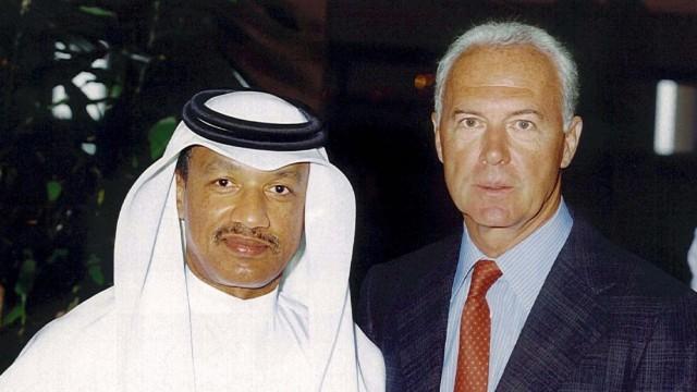 Franz Beckenbauer und Mohamed bin Hammam