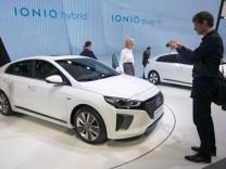 Der neue Hyundai Ioniq auf dem Genfer Autosalon 2016.