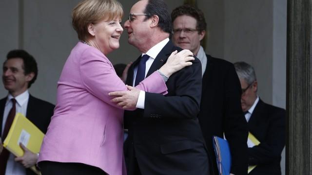 German Chancellor Merkel in Paris
