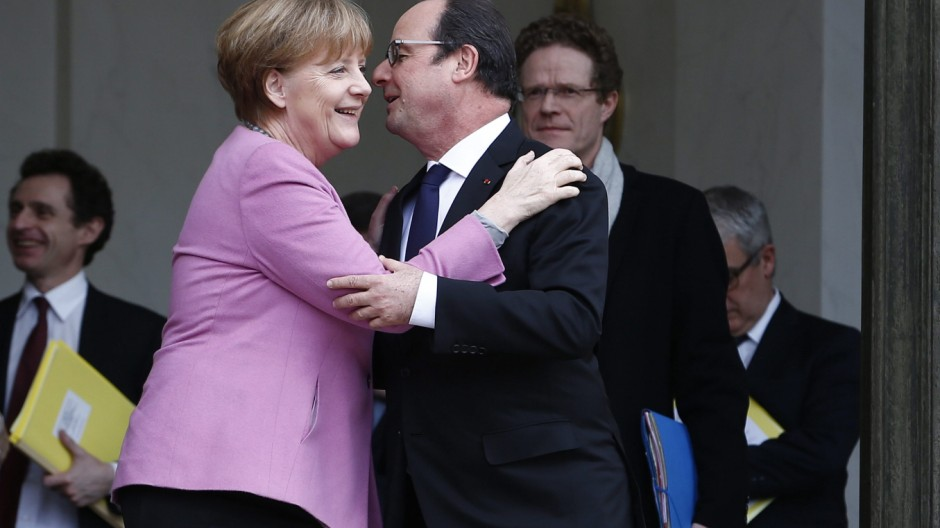 German Chancellor Merkel in Paris