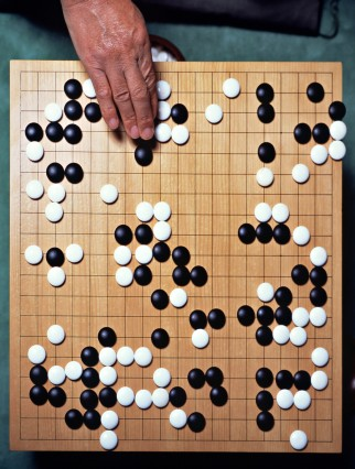 Oriental board game of Go, Japan