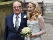 Rupert Murdoch und Jerry Hall Hochzeit