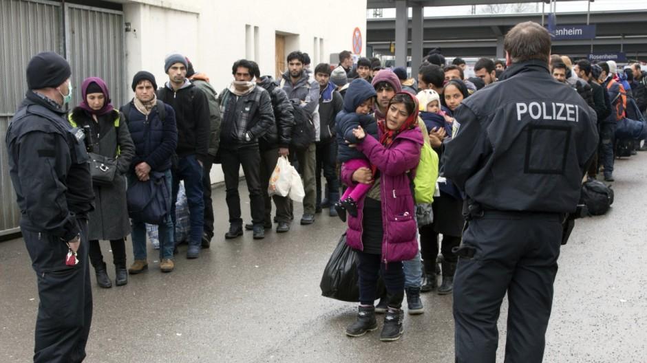 Erfassung von Fluechtlingen bei der Bundespolizei