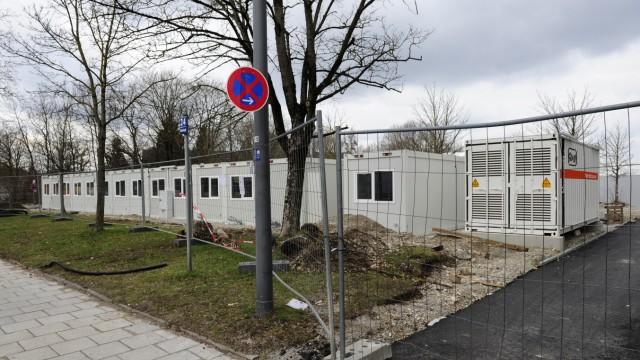 Flüchtlinge in München Milbertshofen