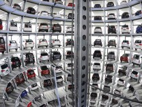 File photo of Volkswagen cars in a delivery tower at the company's headquarters in Wolfsburg