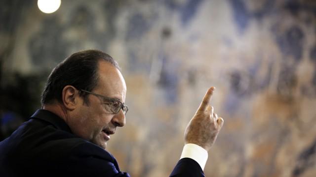 Francois Hollande at Showroomprive