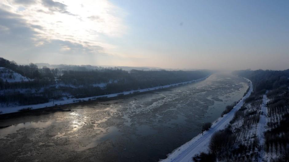 Eis auf dem Nord-Ostsee-Kanal
