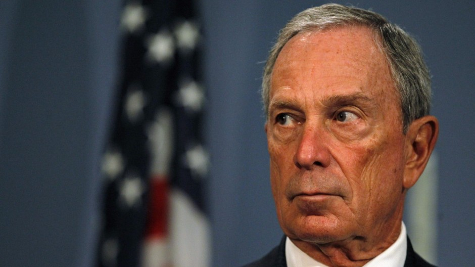 File photo of New York City Mayor Michael Bloomberg speaking at City Hall in New York