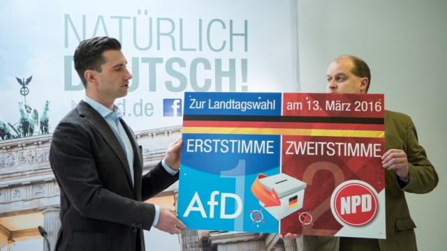 Pressekonferenz der NPD zum Partei-Verbotsverfahren