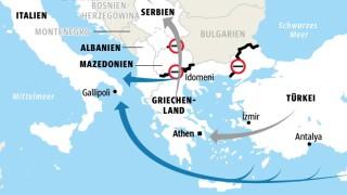 Flüchtlinge Flüchtlinge auf der Balkanroute