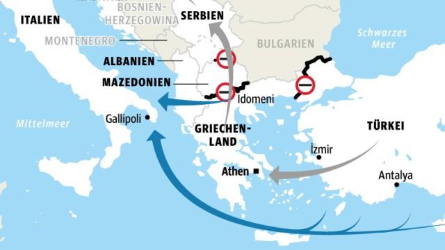 Balkanrouten Alternativen