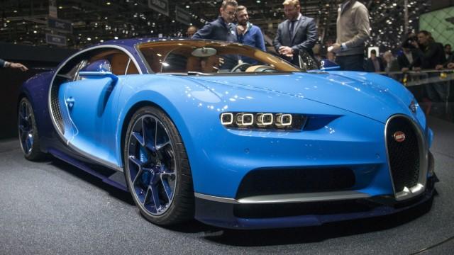 Der neue Bugatti Chiron beim Genfer Autosalon 2016.