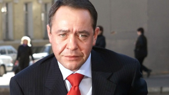File photo of Russia's Mass Media Minister Mikhail Lesin in central Moscow