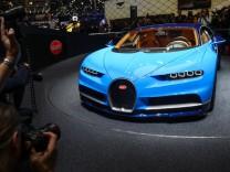 Der neue Bugatti Chiron auf dem Genfer Autosalon 2016.