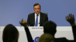 European Central Bank president Draghi waits for questions during a news conference at the ECB headquarters in Frankfurt