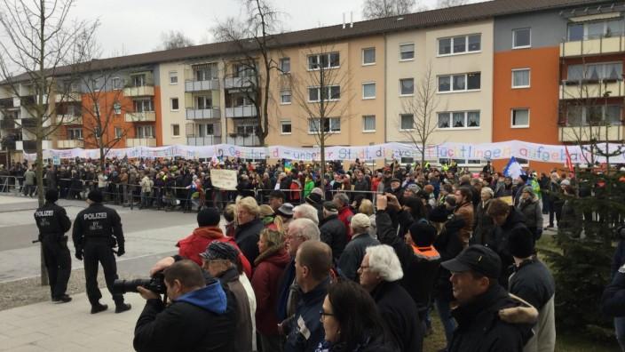AfD Demo und Gegendemo in Geretsried
