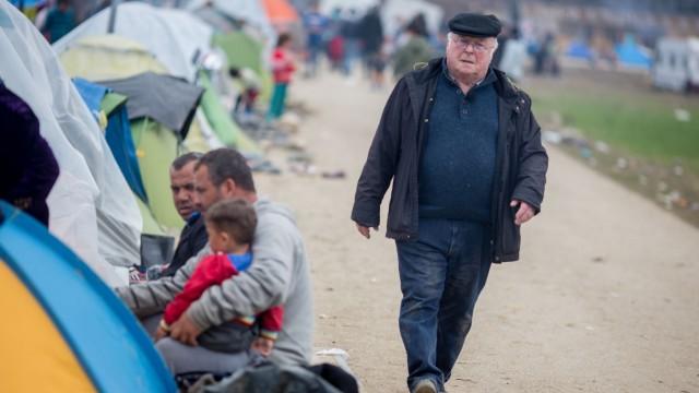 Flüchtlinge an der griechisch-mazedonischen Grenze