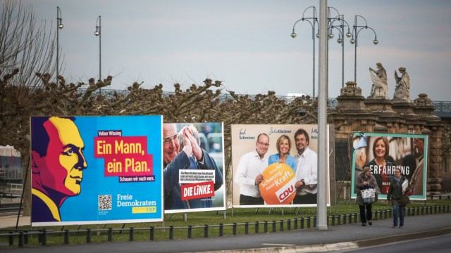 Wahlplakate Landtagswahl Rheinland-Pfalz