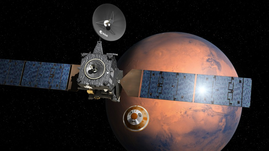 ExoMars - Schiaparelli separating from Trace Gas Orbiter