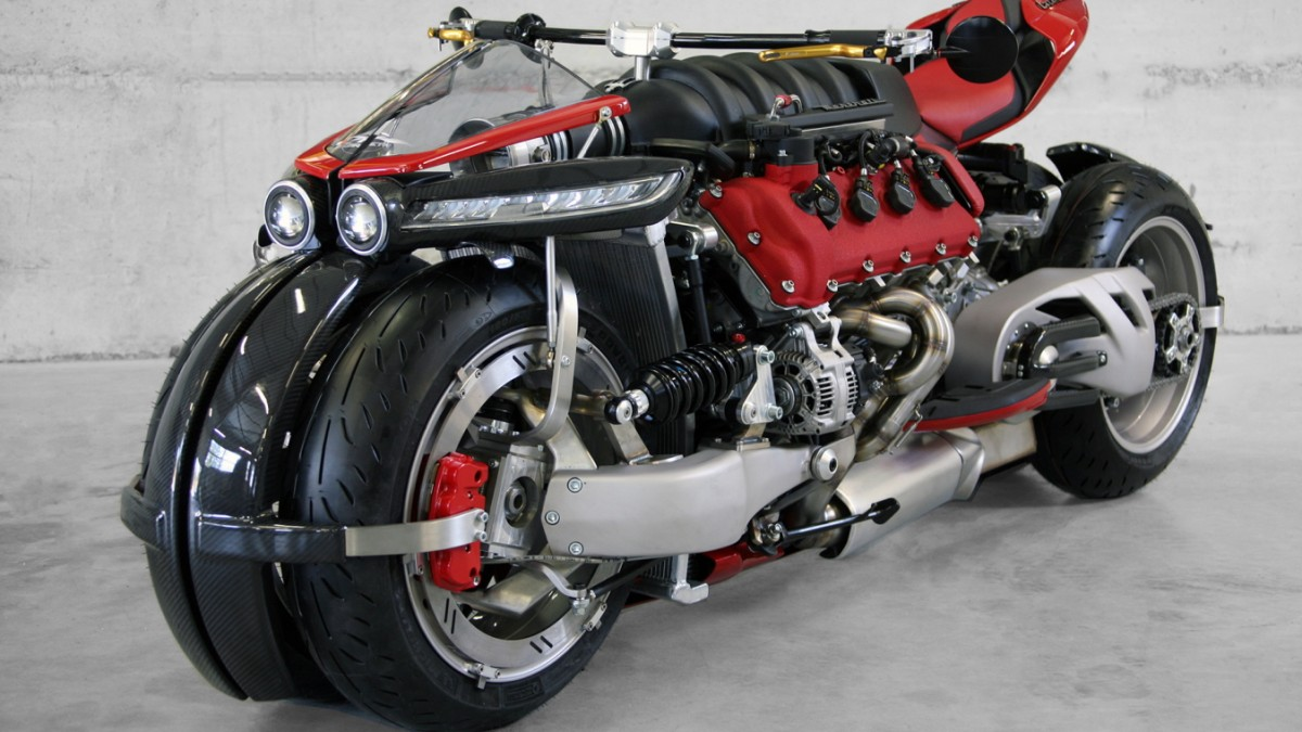 lazareth lm847: motorrad mit maserati-motor - auto & mobil