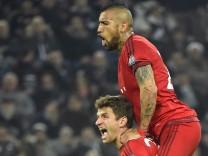 FC Bayern: Thomas Müller und Arturo Vidal beim Champions-League-Spiel gegen Juventus Turin.