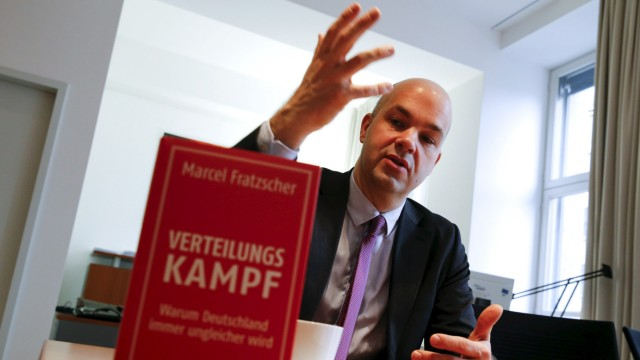 Marcel Fratzscher, chairman of the German Institute for Economic Research, speaks during an interview with Reuters in his office in Berlin, Germany